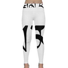 Thimphu  Classic Yoga Leggings by abbeyz71