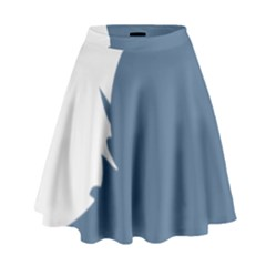 Blue White Hill High Waist Skirt