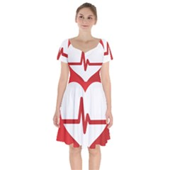 Cardiologist Hypertension Rheumatology Specialists Heart Rate Red Love Short Sleeve Bardot Dress