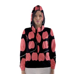 Craft Pink Black Polka Spot Hooded Wind Breaker (women) by Mariart