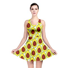 Avocados Seeds Yellow Brown Greeen Reversible Skater Dress by Mariart