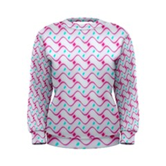 Squiggle Red Blue Milk Glass Waves Chevron Wave Pink Women s Sweatshirt by Mariart