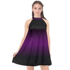 Decorative Pattern Halter Neckline Chiffon Dress  by ValentinaDesign