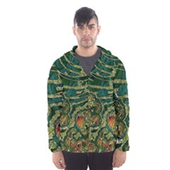 Unique Abstract Mix 1c Hooded Wind Breaker (men) by MoreColorsinLife