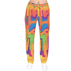 Abstract Art Drawstring Pants