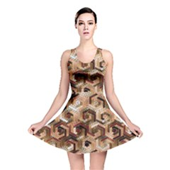 Pattern Factory 23 Brown Reversible Skater Dress by MoreColorsinLife