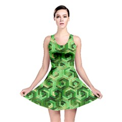 Pattern Factory 23 Green Reversible Skater Dress by MoreColorsinLife