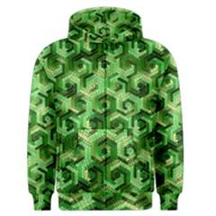 Pattern Factory 23 Green Men s Zipper Hoodie by MoreColorsinLife