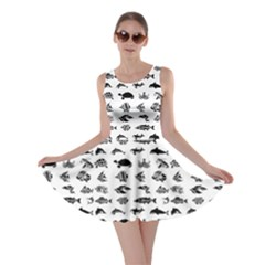 Fish Pattern Skater Dress by ValentinaDesign