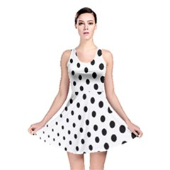 Polka Dot Black Circle Reversible Skater Dress by Mariart