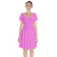 Abstract Art  Short Sleeve Bardot Dress by ValentinaDesign