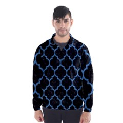 Tile1 Black Marble & Blue Colored Pencil Wind Breaker (men) by trendistuff