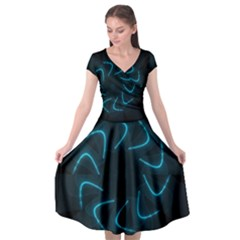 Background Abstract Decorative Cap Sleeve Wrap Front Dress by Nexatart