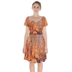 Background Texture Pattern Vintage Short Sleeve Bardot Dress by Nexatart