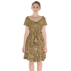 Melting Swirl E Short Sleeve Bardot Dress