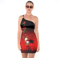 Sweet Poison One Shoulder Ring Trim Bodycon Dress by tonitails