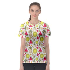 Summer Fruits Pattern Women s Sport Mesh Tee by TastefulDesigns