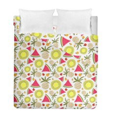 Summer Fruits Pattern Duvet Cover Double Side (full/ Double Size) by TastefulDesigns