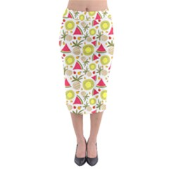 Summer Fruits Pattern Midi Pencil Skirt by TastefulDesigns