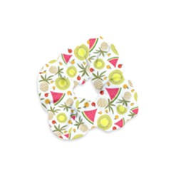 Summer Fruits Pattern Velvet Scrunchie by TastefulDesigns