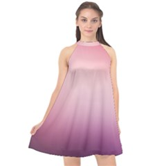 Background Blurry Template Pattern Halter Neckline Chiffon Dress