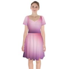 Background Blurry Template Pattern Short Sleeve Bardot Dress