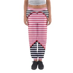 Heart Stripes Symbol Striped Women s Jogger Sweatpants by Nexatart