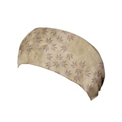 Parchment Paper Old Leaves Leaf Yoga Headband by Nexatart