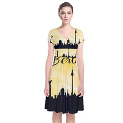 Berlin Short Sleeve Front Wrap Dress by Valentinaart