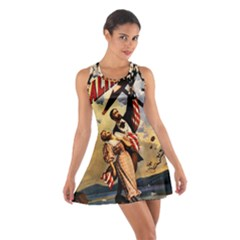 The War Of Wealth Cotton Racerback Dress by Valentinaart