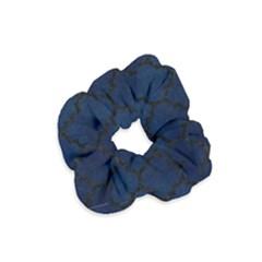 Tile1 Black Marble & Blue Grunge (r) Velvet Scrunchie by trendistuff