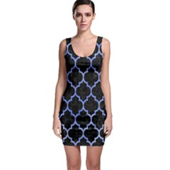 Tile1 Black Marble & Blue Watercolor Bodycon Dress by trendistuff