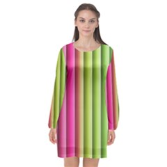 Vertical Blinds A Completely Seamless Tile Able Background Long Sleeve Chiffon Shift Dress  by Nexatart
