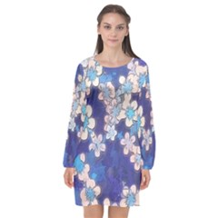 Lovely Floral 29 C Long Sleeve Chiffon Shift Dress  by MoreColorsinLife