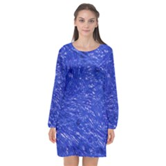 Thick Wet Paint A Long Sleeve Chiffon Shift Dress