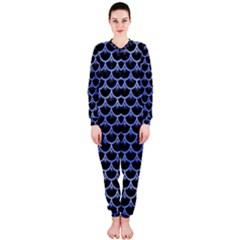 Scales3 Black Marble & Blue Watercolor Onepiece Jumpsuit (ladies) by trendistuff