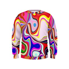 Colourful Abstract Background Design Kids  Sweatshirt by Nexatart
