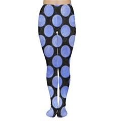 Circles2 Black Marble & Blue Watercolor Tights by trendistuff