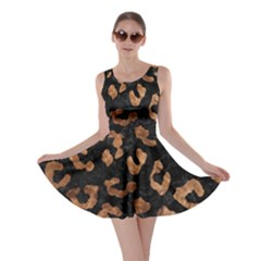 Skin5 Black Marble & Brown Stone (r) Skater Dress by trendistuff