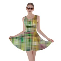 Woven Colorful Abstract Background Of A Tight Weave Pattern Skater Dress by Nexatart