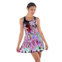 Fractal Fireworks Display Pattern Cotton Racerback Dress
