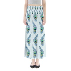 Background Of Beautiful Peacock Feathers Maxi Skirts by Nexatart