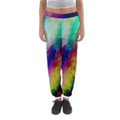 Colorful Abstract Paint Splats Background Women s Jogger Sweatpants by Nexatart