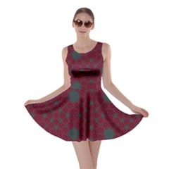 Blue Hot Pink Pattern With Woody Circles Skater Dress by Nexatart