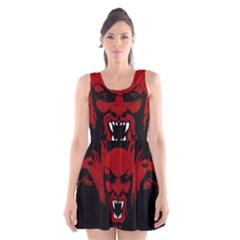 Dracula Scoop Neck Skater Dress by Valentinaart