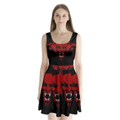 Dracula Split Back Mini Dress  by Valentinaart