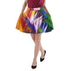 Palms02 A Line Pocket Skirt by psweetsdesign
