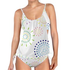 Fireworks Illustrations Fire Partty Polka Tankini by Mariart