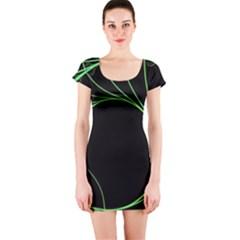 Fractal Golden Ratio Fractal Pattern Nature From Similar Seashell Patterns Short Sleeve Bodycon Dress