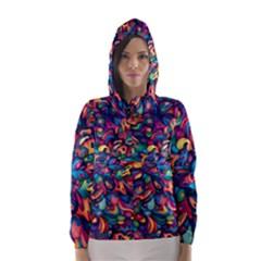 Moreau Rainbow Paint Hooded Wind Breaker (women)